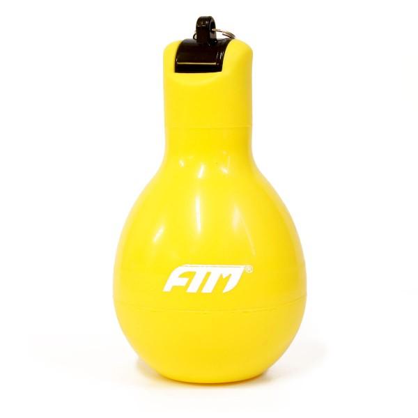 FTM Handpfeife Wizzball Gelb, Trillerpfeife zum drücken