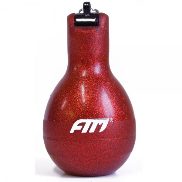 FTM Wizzball Handpfeife Rot Glitzer, Trillerpfeife zum drücken