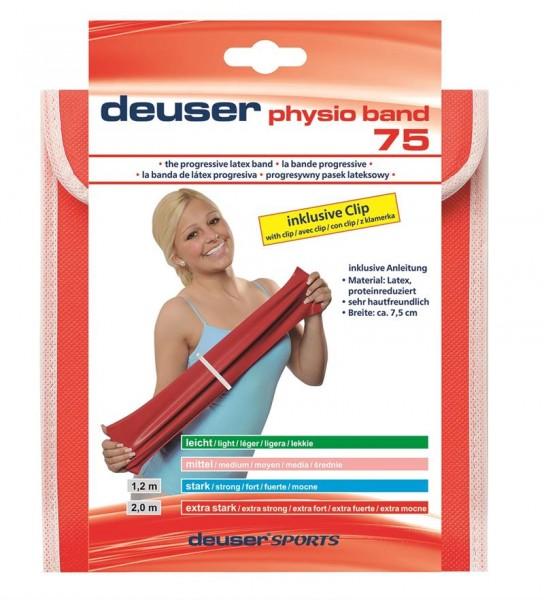 Deuser Physio Band 75mm breit, 1,20m Länge