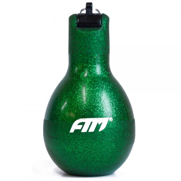 FTM Wizzball Handpfeife Grün Glitzer, Trillerpfeife zum drücken