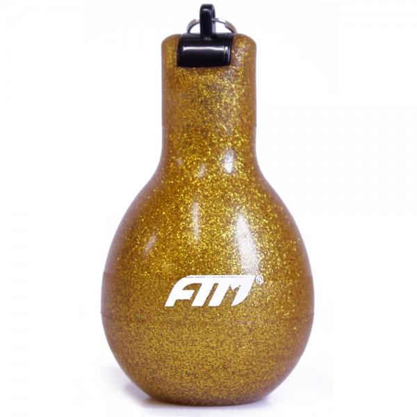 FTM Wizzball Handpfeife Gold Glitzer, Trillerpfeife zum drücken