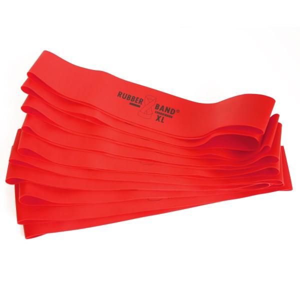 Rubberband XL in Rot stark, inkl. FTM®-Übungsflyer, für Muskelaufbau, Krafttraining und Fitness