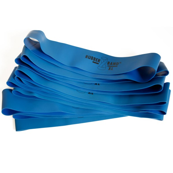 Rubberband XL in Blau extra stark, inkl. FTM®-Übungsflyer, für Muskelaufbau und Krafttraining
