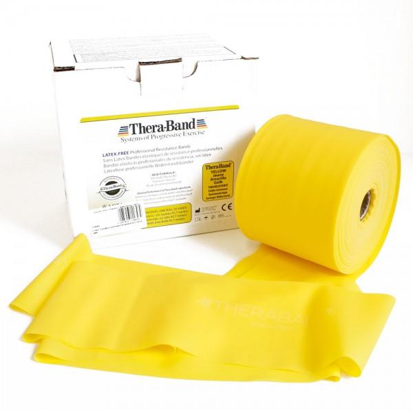 Theraband latexfrei Gelb leicht, Meterware