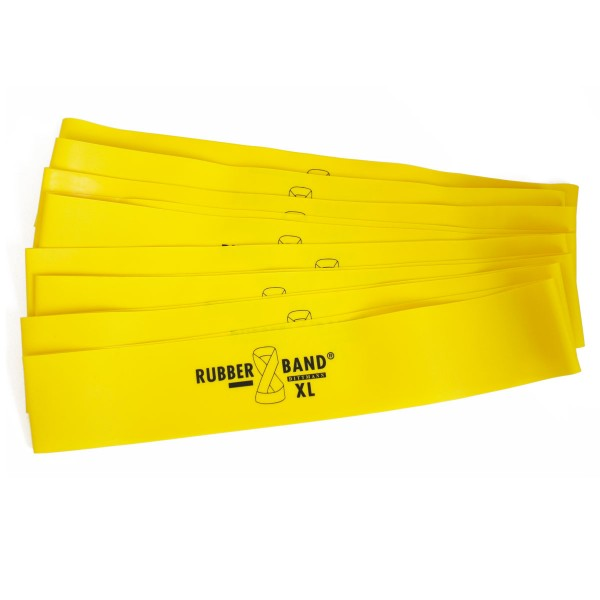 Rubberband XL in Gelb leicht, inkl. FTM®-Übungsflyer, für Muskelaufbau, Krafttraining und Fitness