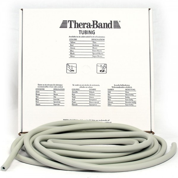 Theraband Tubing Silber Super Stark Meterware Fitness Tube
