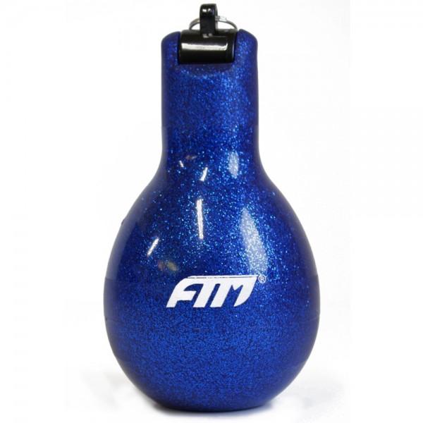 FTM Wizzball Handpfeife Blau Glitzer, Trillerpfeife zum drücken
